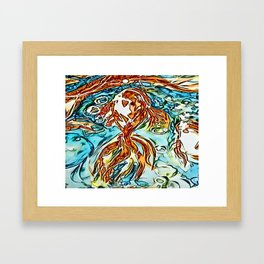 Bubbly Goldfish watercolor by CheyAnne Sexton Framed Art Print