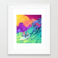 ponyo Framed Art Prints featuring Ponyo by Jen Bartel