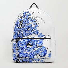 Oak Leaves Blue Backpack