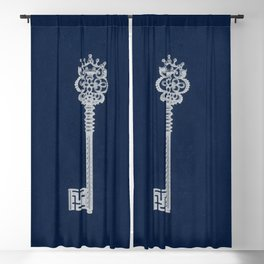 Antique Skeleton Key Blackout Curtain