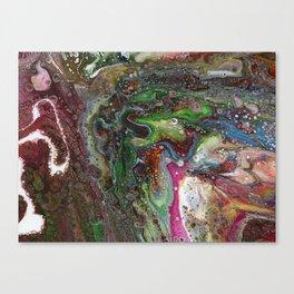 Fluid Acrylic VI - Original, abstract, textured fluid pour painting Canvas Print