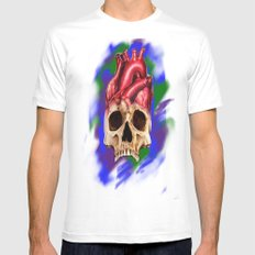 Think With Your Heart Mens Fitted Tee MEDIUM White