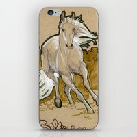 mucha iPhone & iPod Skins featuring  Mucha Horse by emilyszalay