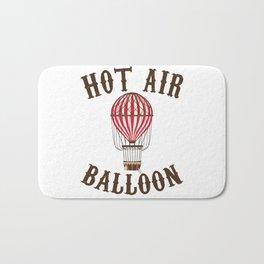 Hot Air Balloon Retro Balloonist Pilot Ballooning Bath Mat