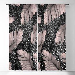 Banana Leaves Glitter Glam #4 #shiny #tropical #decor #art #society6 Blackout Curtain