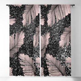 Banana Leaves Glitter Glam #4 #shiny #tropical #decor #art #society6 Blackout Curtain