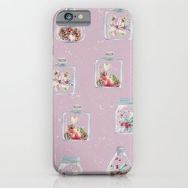 Christmas Pattern Pink iPhone Case
