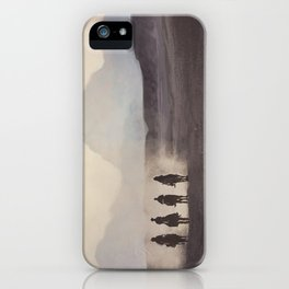 Desert Landscape With Horses iPhone Case