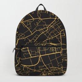 EDINBURGH SCOTLAND GOLD ON BLACK CITY MAP Backpack