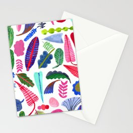 colorful plants Stationery Cards