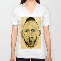tribal V-neck T-shirts featuring tribal  by Joe Ganech