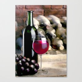 Tasting Time in the Dusty Wine Cellar Canvas Print