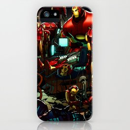 robot bases iPhone Case