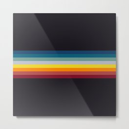 Naoaki - Classic Rainbow Retro Stripes Metal Print