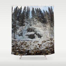 Bridal Veil Falls in Jasper National Park, Alberta Shower Curtain