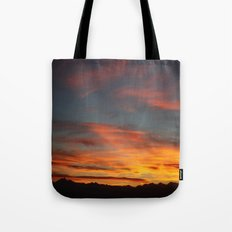 Rocky Mountain Silhouette Tote Bag