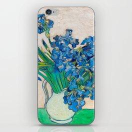 Irises by Vincent van Gogh Oil Painting Still Life Floral Arrangement In Vase iPhone Skin