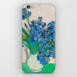Irises by Vincent van Gogh Oil Painting Still Life Floral Arrangement In Vase iPhone Skin