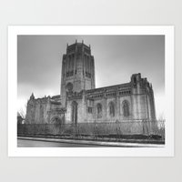 liverpool Art Prints featuring Liverpool Cathedral by Abi Booth