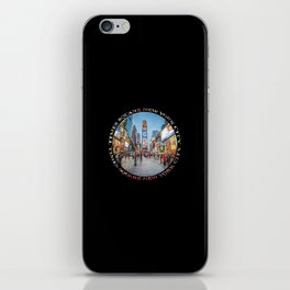 Times Square Sparkle (badge on black) iPhone Skin