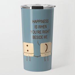 Happy Smile Keyboard Buttons Travel Mug