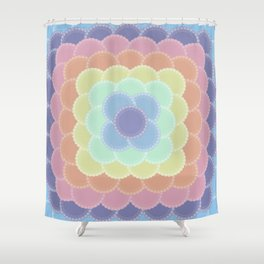 Layered Lace Circles Shower Curtain