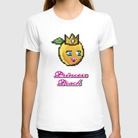 princess peach T-shirts featuring Princess Peach by Sam Pea