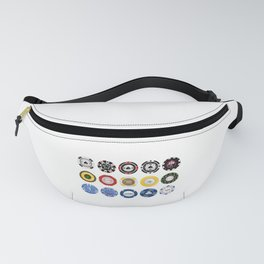 Casino Poker Chips Nevada Day Fanny Pack