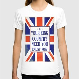 Vintage poster - Your King and Country Need You T-shirt