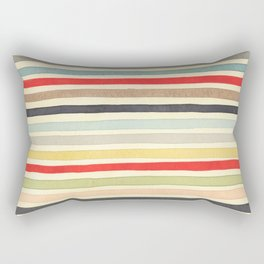 Stripes Watercolor Paint Robayre Rectangular Pillow