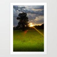 """Across The Field"" Art Print"
