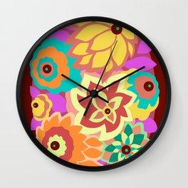 CAMBRIA, ART DECO FLORALS: MOD MADNESS Wall Clock