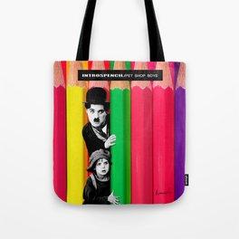 INTROSPENCIL / Pet Shop Boys - Introspective - The Kid Chaplin - Digital Illustration - Pop Art Tote Bag