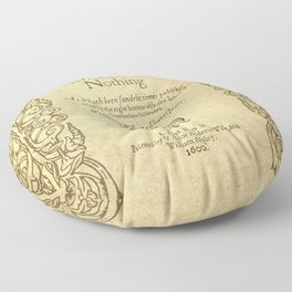 Shakespeare. Much adoe about nothing, 1600 Floor Pillow