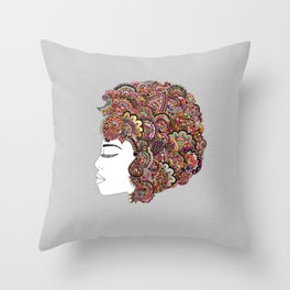 Her Hair - Les Fleur Edition Throw Pillow