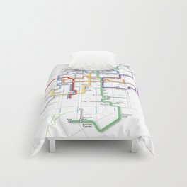 Minneapolis Skyway Map Comforters