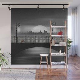 The bridge in the summer rain Wall Mural