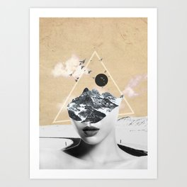 collage art / Wild Nature Art Print