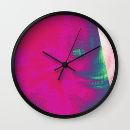 pink triangle Wall Clock