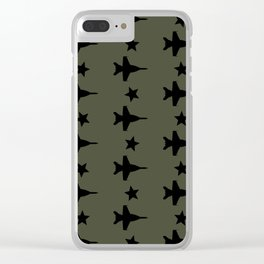 F-18 Hornet Fighter Jet Pattern Clear iPhone Case
