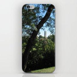 KU Campanile Through The Trees iPhone Skin
