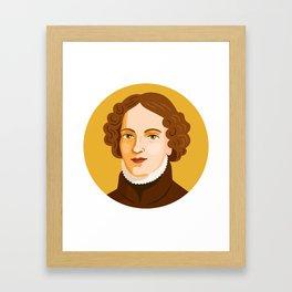 Queer Portrait - Anne Lister Framed Art Print