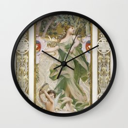 La Danse (1888-1898) painting in high resolution by Luc-Olivier Merson Wall Clock