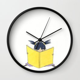 Little Girl Reading Wall Clock