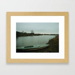 bathing in the blue Framed Art Print
