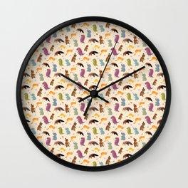 Animals pattern.  Аnteater&co Wall Clock
