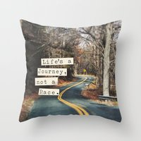 journey Throw Pillows featuring Journey by Brandy Coleman Ford