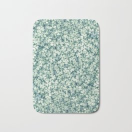 Clover shamrock leaf art, green leaves pattern Bath Mat