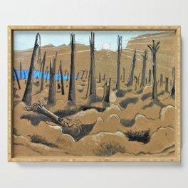 Paul Nash - Sunrise, Inverness Copse - Digital Remastered Edition Serving Tray