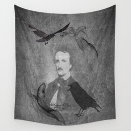 The Raven - E.A. Poe Wall Tapestry
